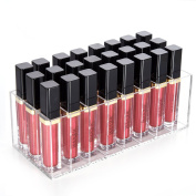 Lip Gloss Holder Organiser, HBlife 24 Spaces Clear Acrylic Makeup Lipgloss Display Case