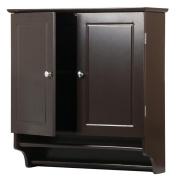 go2buy Wall Mounted Cabinet Kitchen/Bathroom Wooden Medicine Hanging Storage Organiser, Espresso