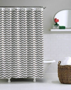 Saganizer Shower Curtains, 180cm By 180cm , - Grey Shower Curtain Liner Chevron Design Shower Curtain