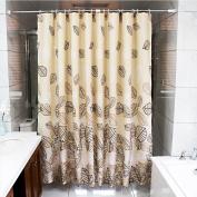 wendana Shower Curtain Fabric Leave Bathroom Curtains Waterproof Polyestwer Mildew Resistant Bath Shower Curtains for Bathroom 180cm by 180cm with 12 Hooks