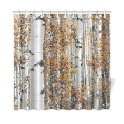 Autumn Tree Yellow Leaves 180cm x 180cm Waterproof Polyester Fabric Bathroom Shower Curtain- Bathroom Decor