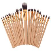 WuyiMC 20Pcs/Set Make Up Foundation Eyebrow Eyeliner Blush Cosmetic Concealer Brushes