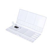 Zhi Jin 1Pc Artist Paint Palette Tray Painting Box with Thumb Hole Brush Holder Art for Watercolour Oil Drawing White