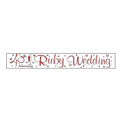 Simon Elvin Ruby Anniversary Foil Party Banner (One Size)
