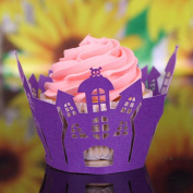 50pcs Cake Cup,Morecome Halloween Cut Cupcake Wrapper Liner Muffin