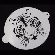 JD Million shop 1Pcs Translucent plastic cake stencil tiger Design for Cake Decoration Cappuccino Decorating Mousse CakeTools