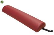 Massage Bolster Pillow + Half Round + Spa Bed Massage Table Cushion +Burgundy