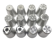 JJMG New Russian Large Piping Tips Set Icing Nozzles Fondant Cakes, Cupcakes, Cakes and Pastries Decorating Set