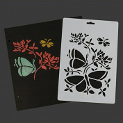 SEPTEMBER Plastic Cake Decorating Stencil Daking Tools, Butterfly Animal Fondant Dessert Cake Template