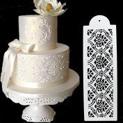 SEPTEMBER 4PCS Wedding Birthday Cake Decorating Bakery Tools, Fancy Fondant Template Mould,Flower Edge Stencil Baking Tools