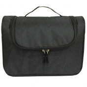 9L Hanging Travel Toiletry Bag and Roomy Organiser Makeup Handbag Perfect for Grooming Shaving Dopp Kit Colour Black
