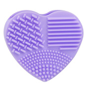 Misaky Silicone Fashion Egg Cleaning Glove MakeUp Washing Brush Silica Glove Scrubber Board Cosmetic Clean Tools