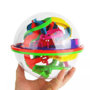 Intellect 3D UFO Maze Ball, Labyrinth Globe Toys, 100 Challenging Barriers, Best Gift, Forthery Magic Puzzle Game Independent Play