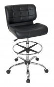 Studio Designs Modern Black Crest Drafting Chair