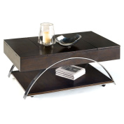Progressive Furniture P428-15 Castered Lift-Top Cocktail Table Showplace, 48 x 70cm x 46cm , Brown