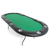 BBO Poker Aces Pro Folding Poker Table for 10 Players, 240cm Oval