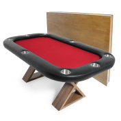 BBO Poker Helmsley Poker Table for 8 Players, 180cm x 120cm , Includes Matching Dining Top