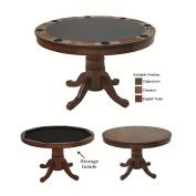 RAM Gameroom Convertible Wooden Poker Table - 120cm . Round