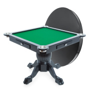 BBO Poker Levity Game and Poker Table for 4 Players, 110cm Square, Includes Matching Dining Top