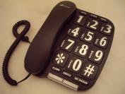 Benross 44570 Jumbo Big Button Home Telephone - Black