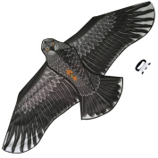 Large Eagle Kite (Black) for Kids and Adults - Huge Wingspan and Lifelike Design - Easy to Assemble & Fly