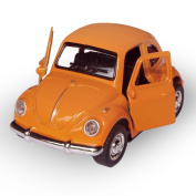Cute Vintage toy Car for Kids, VW Beetle 1:38 Diecast Play Vehicles Model ,Classic Design Style , Lights & Sounds whit Multi-colour, Great Gift