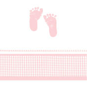 Plaid Baby Girl Table Cover