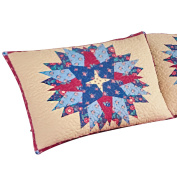 Colourful Country Starburst Patchwork Pillow Sham