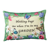 Nothing Bugs Me Accent Pillow, Green