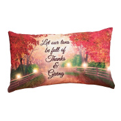 Lighted Fall Forest Inspirational Pillow