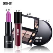 Eyeshadow Palette, Hunzed Blusher Lip Gloss Shimmer Eyeshadow Beauty Makeup Kit Cosmetic Set