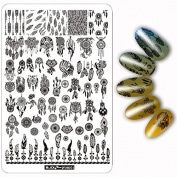 Nail Art Plate Nail Template Nail Beauty Stamper Nail Disc 9.514.5cm ZJOY PLUS Design