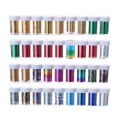 Nail Stickers Transfer Foils for DIY Nail Polish Beauty Stickers Decals 12pcs