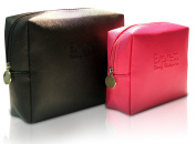 Travel Makeup Bag - Cosmetic Water Resistant Case - Toiletry Pouch - Organiser Purse 2pc Set by Express Beauty Boutique