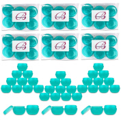 Beauticom 36 Pieces Teal Container Jars with Inner Liner and Lid for Scrubs, Oils, Salves, Creams, Lotions, Makeup Cosmetics, Nail Accessories, Beauty Aids - BPA Free