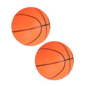 MagiDeal 2pcs Mini Bouncy Basketball Indoor/Outdoor Sports Ball Kids Toy Gift Orange
