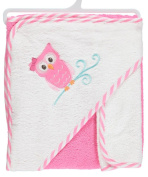 Luvable Friends Baby Woven Hooded Towel with Washcloth, Owl