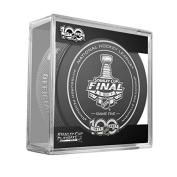 2017 Stanley Cup Finals Game #5 (Five) Pittsburgh Penguins v Nashville Predators Official Game Hockey Puck with Cube