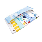 CuteOn 8 Pack Super Soft Baby Washcloth for Newborn Boys & Girls Blue Car