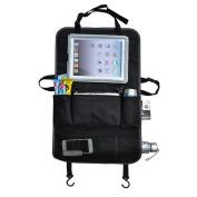 Car Back Seat Organiser for Baby Travel Accessories - Multi-Pocket Travel Storage Bag - Larger Protection Storage, Kids Toy Storage, Back Seat Protector / Kick Mat