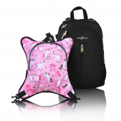 Obersee Rio Nappy Bag Backpack with Detachable Cooler, Unicorns
