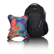 Obersee Oslo Nappy Bag Backpack with Detachable Cooler, Tie Dye