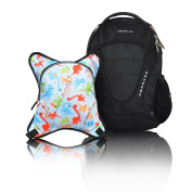 Obersee Oslo Nappy Bag Backpack with Detachable Cooler, Dinos