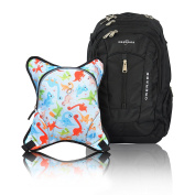 Obersee Bern Nappy Bag Backpack with Detachable Cooler, Dinos