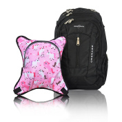 Obersee Bern Nappy Bag Backpack with Detachable Cooler, Unicorns