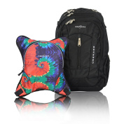 Obersee Bern Nappy Bag Backpack with Detachable Cooler, Tie Dye