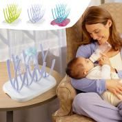 Baby Bottle Drying Rack Hanging Feeding Bottle Cup Holder Infant Nipple Kitchen Drainer Kid Bottle Drainer Dryer Shelf Removable Purple