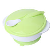 Stebcece Suction Bowl with Spoon for Toddler Kids, Spill Proof and BPA-Free