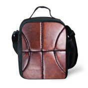 Unique Basketball Pattern Thermal Insulated Lunch Bags for Kids
