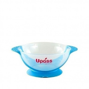 Upass Baby Bowl with Suction Base Blue